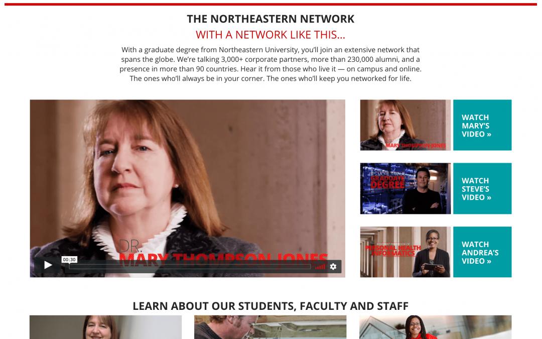 Northeastern University microsite